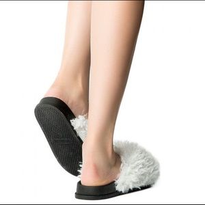 Shoes - New Slides With Shaggy Faux Fur